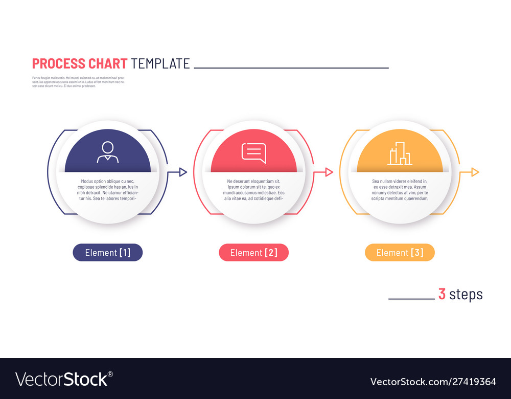 Infographic process chart template three