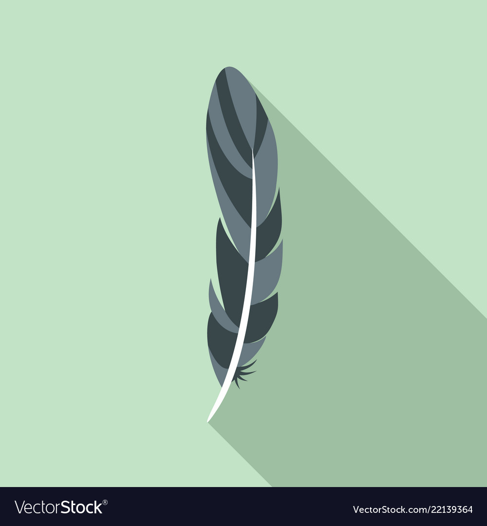 Ink feather icon flat style