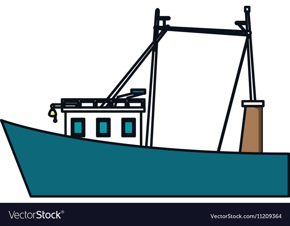 Isolated fishing boat design