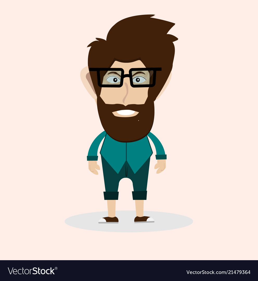 Man with beard and glasses
