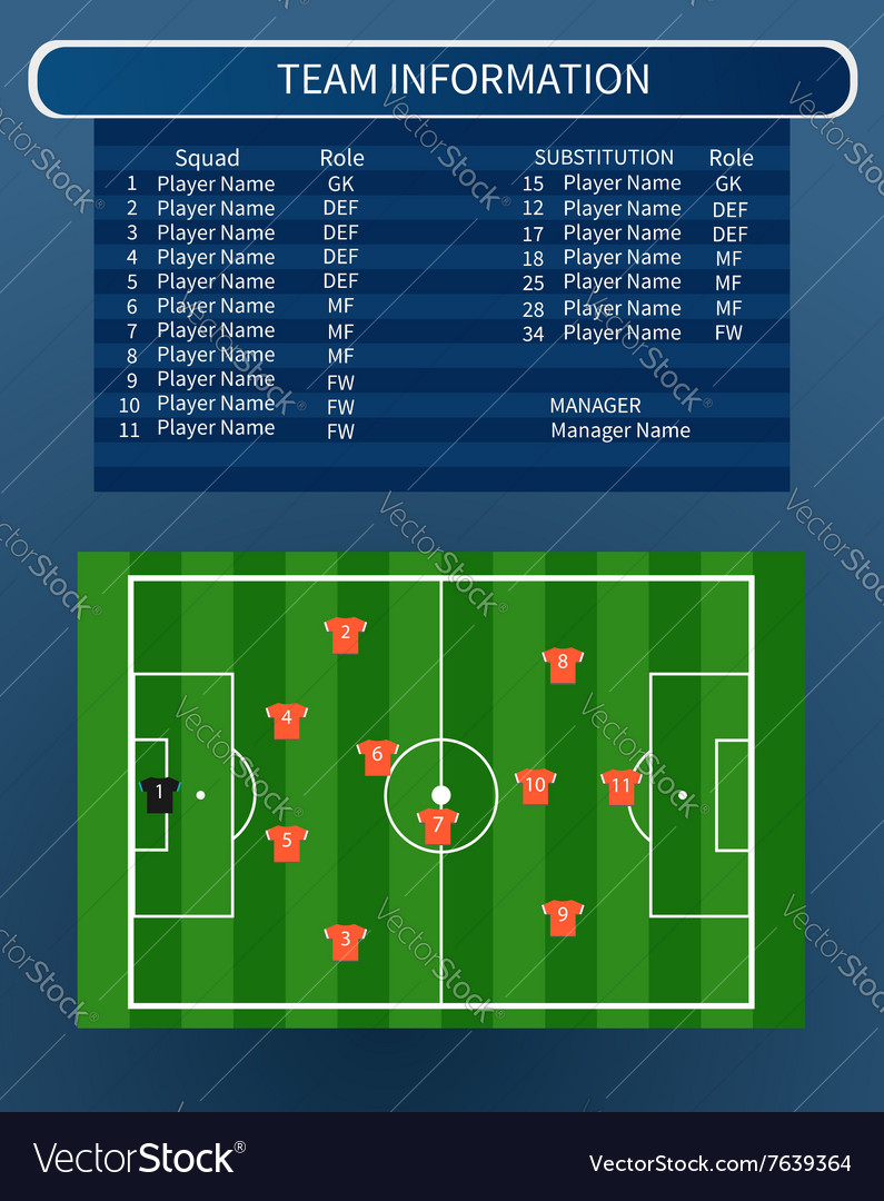 Soccer infographic field