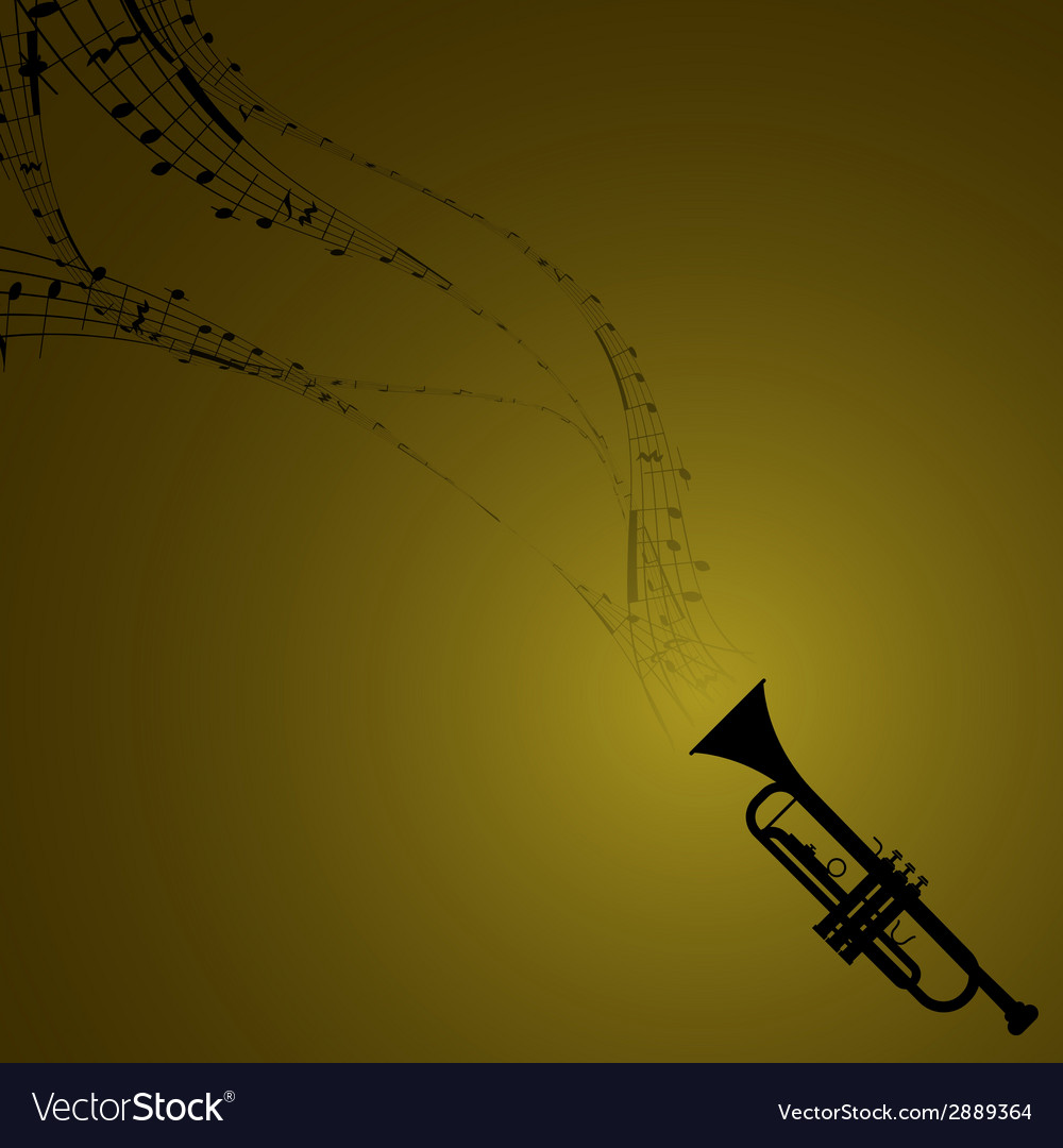 Trumpet With Musical Symbols Royalty Free Vector Image