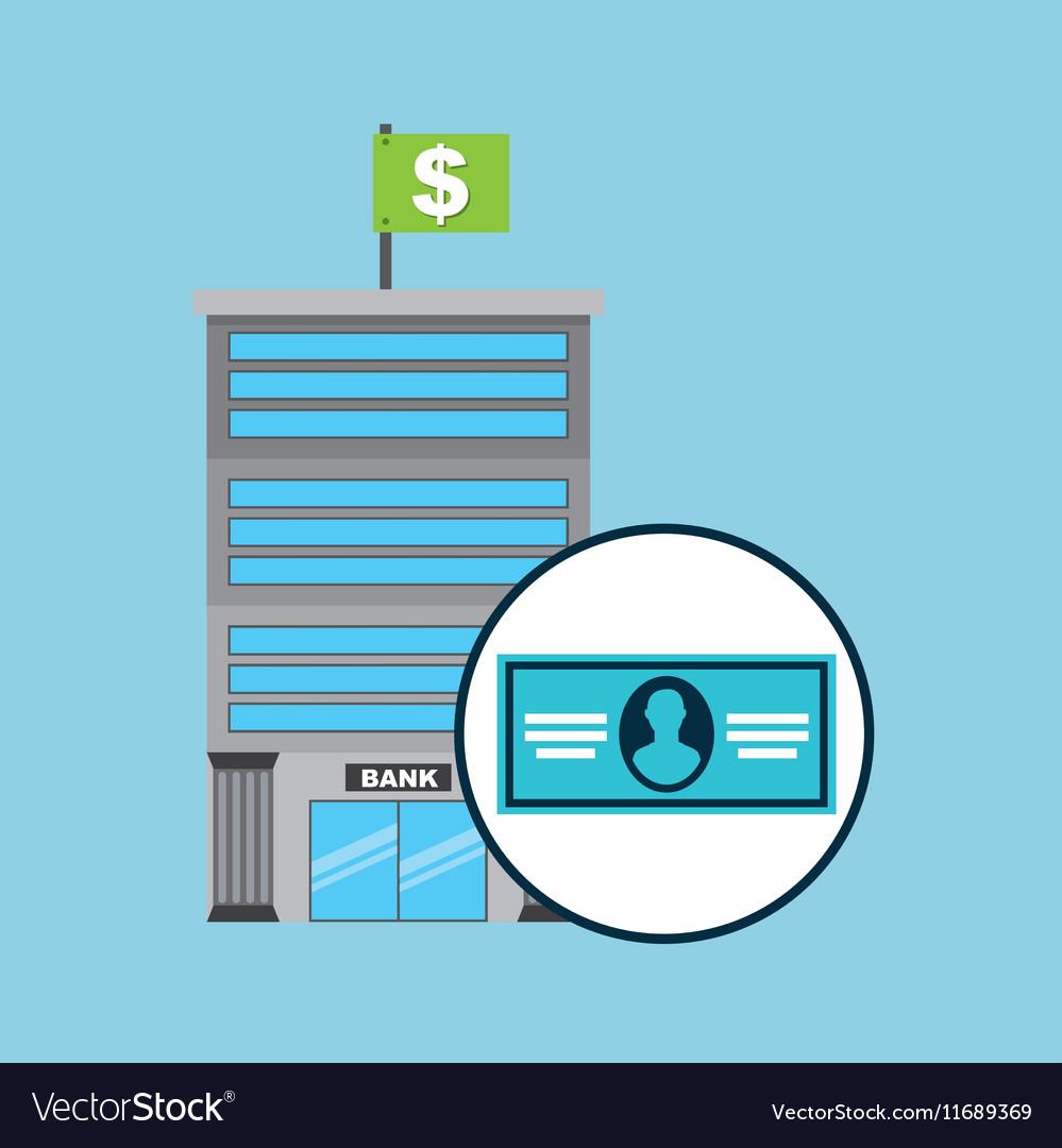 Bank concept service bill dollar