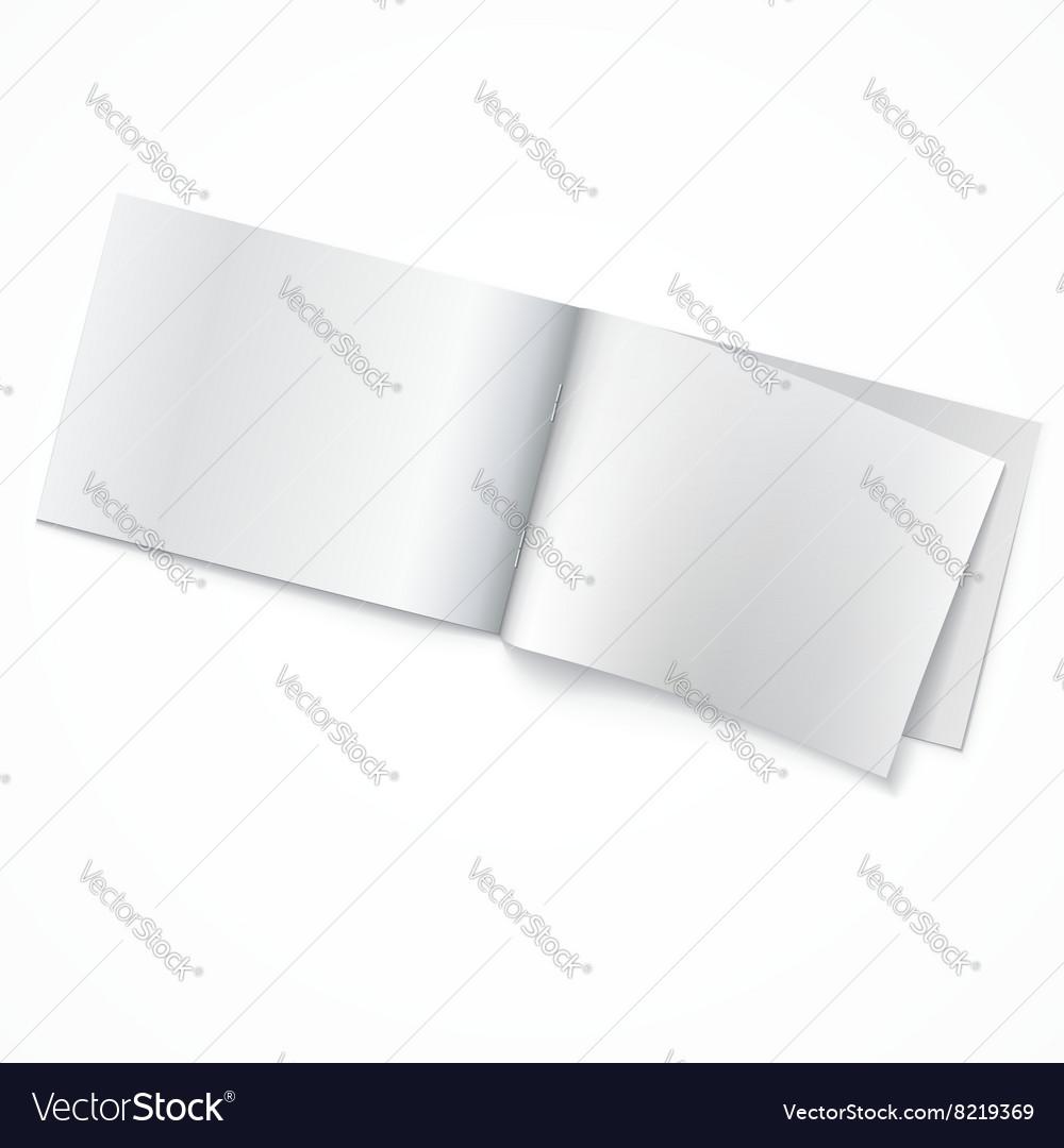 Blank opened magazine template