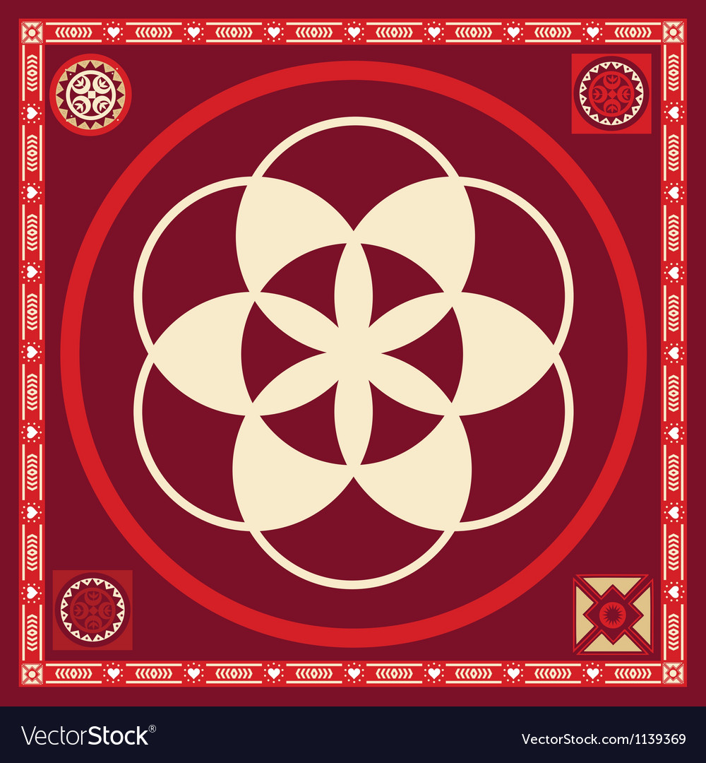 Flower of life seed spring poster
