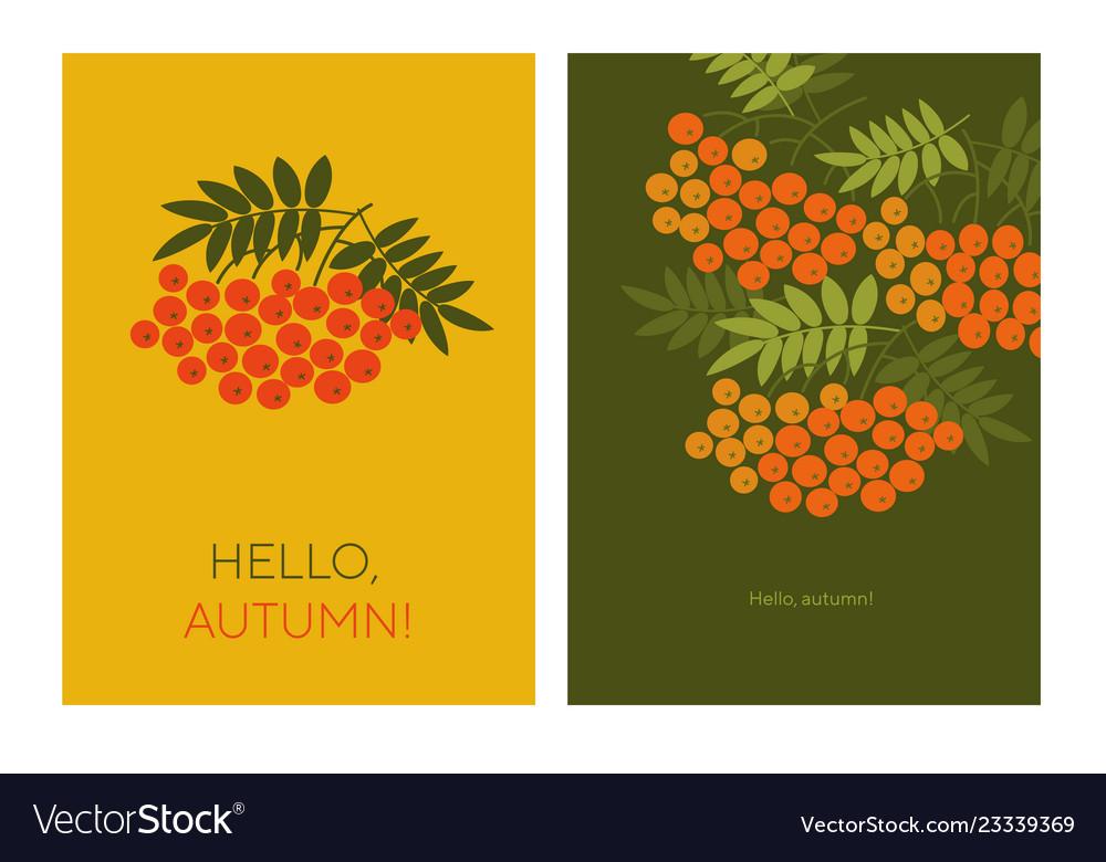 Hello autumn with rowanberry