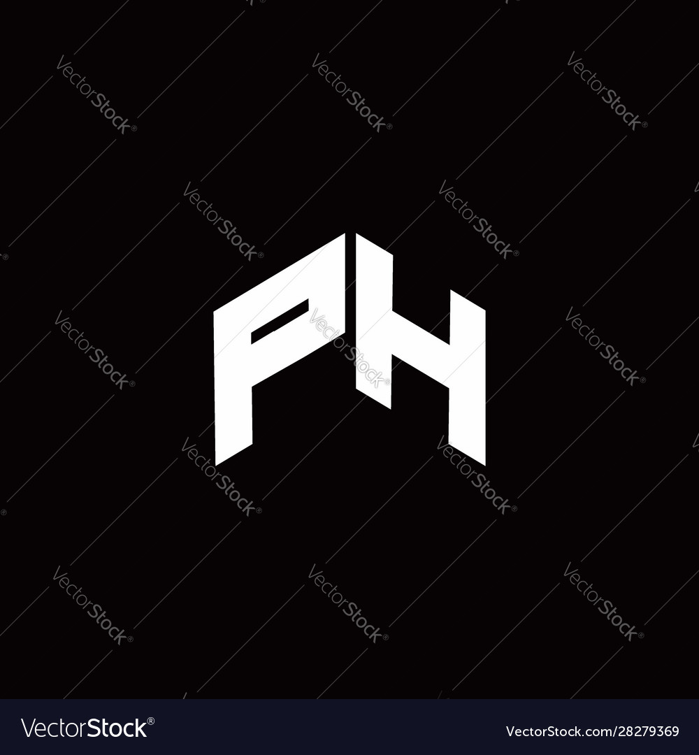 Ph Logo Monogram Modern Design Template Royalty Free Vector