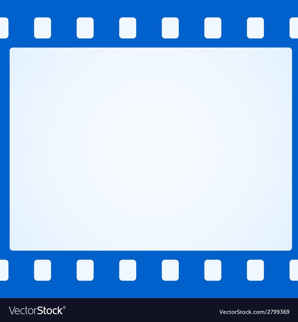 Simple blue film strip background