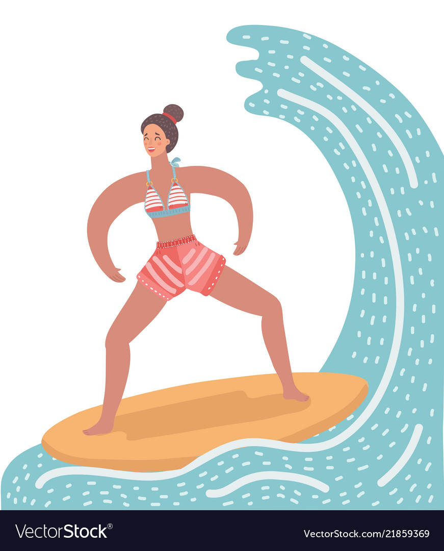 Woman on surf board