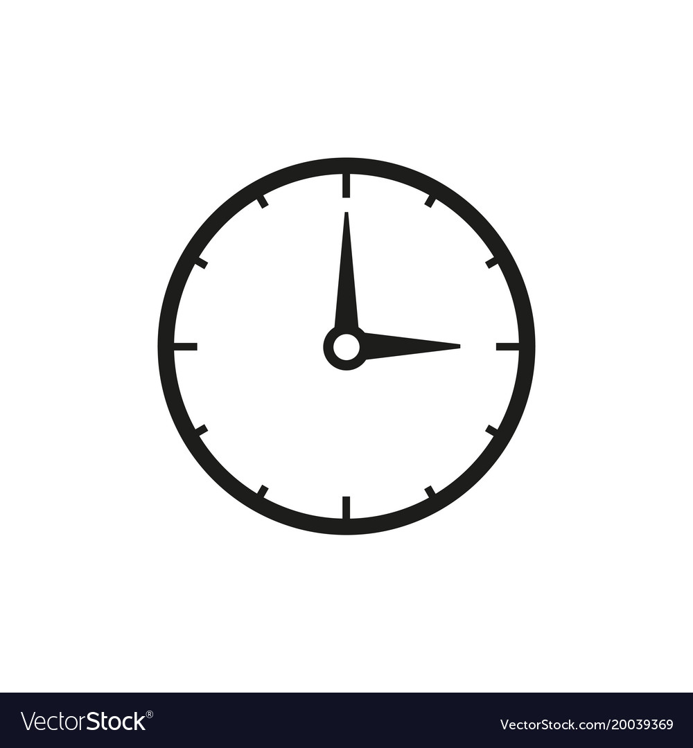 work time clock icon royalty free vector image