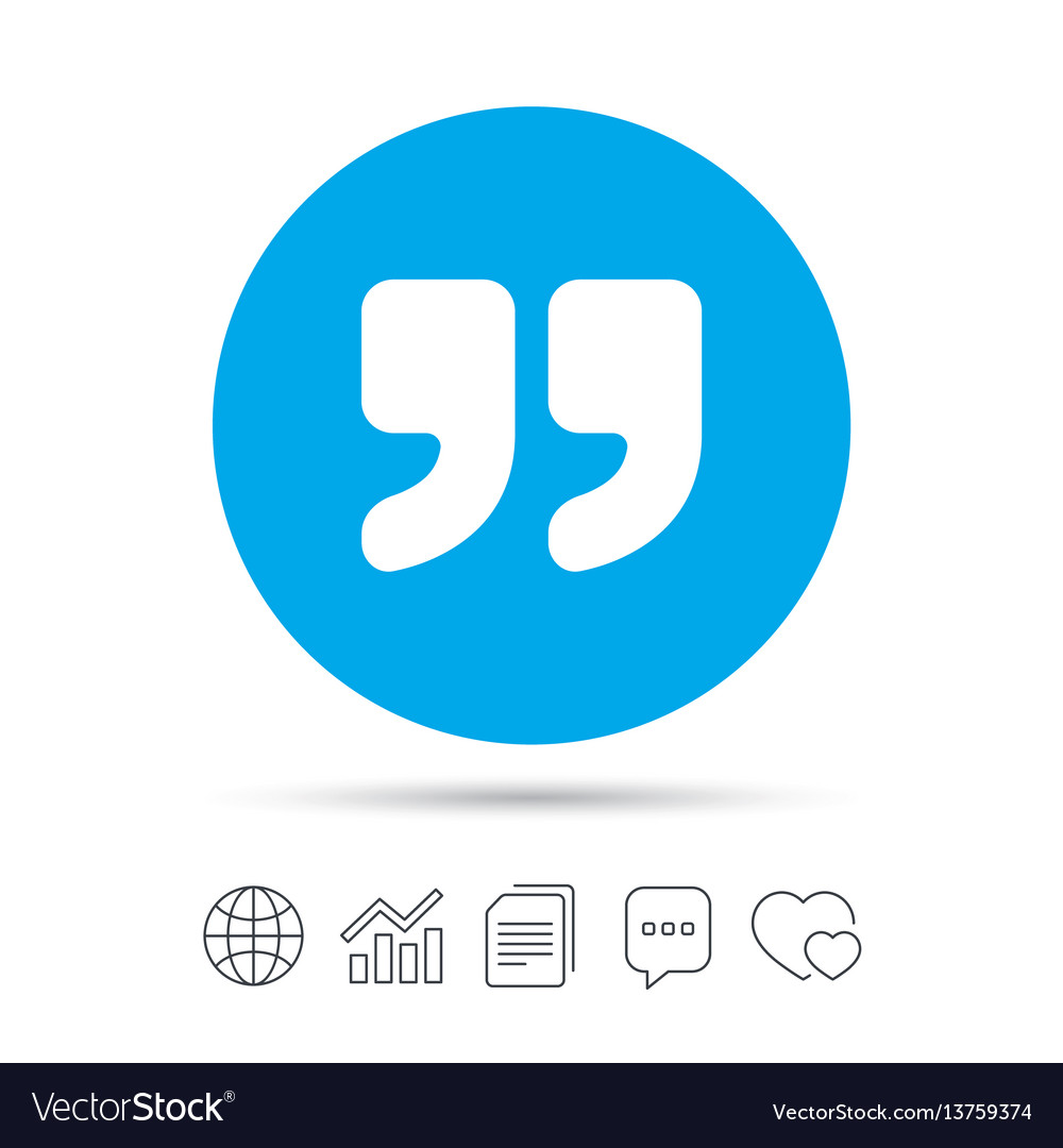 Quote sign icon quotation mark symbol