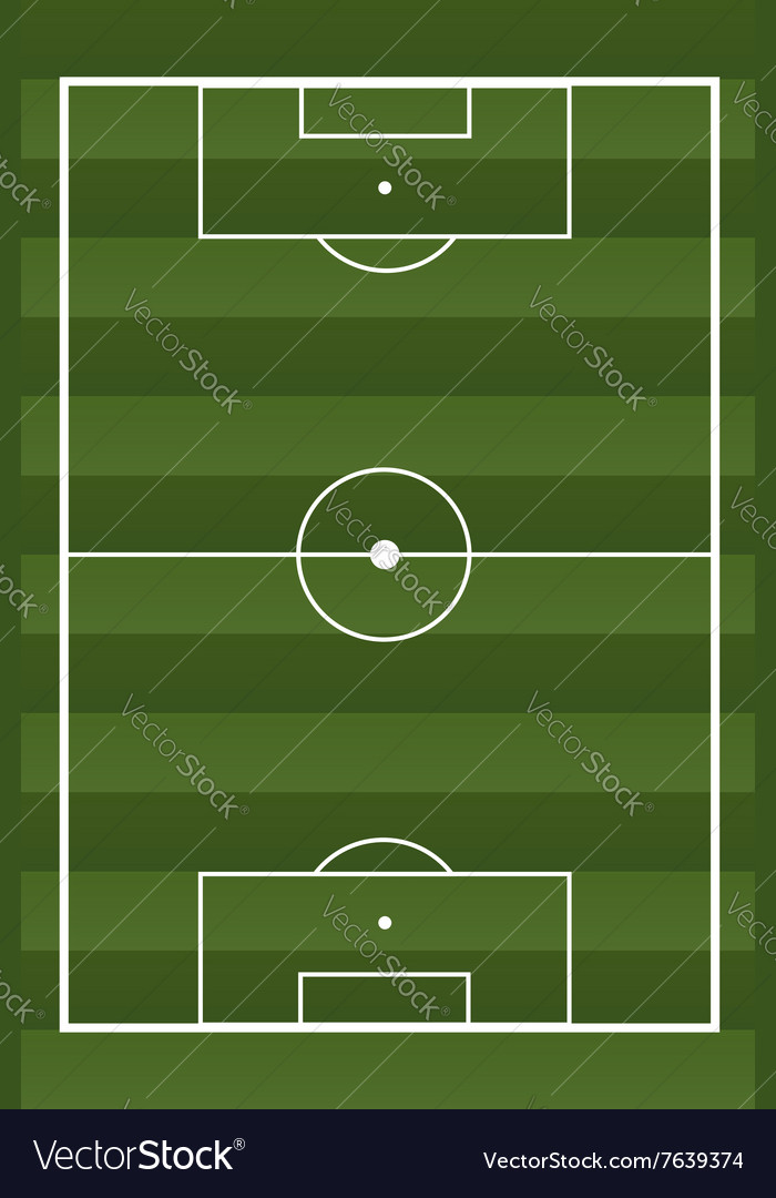 Soccer textured field vector image