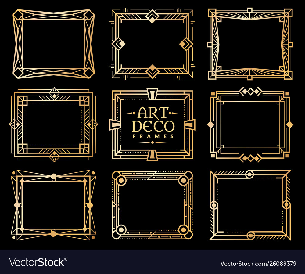 Art deco frames gold gatsdeco frame border