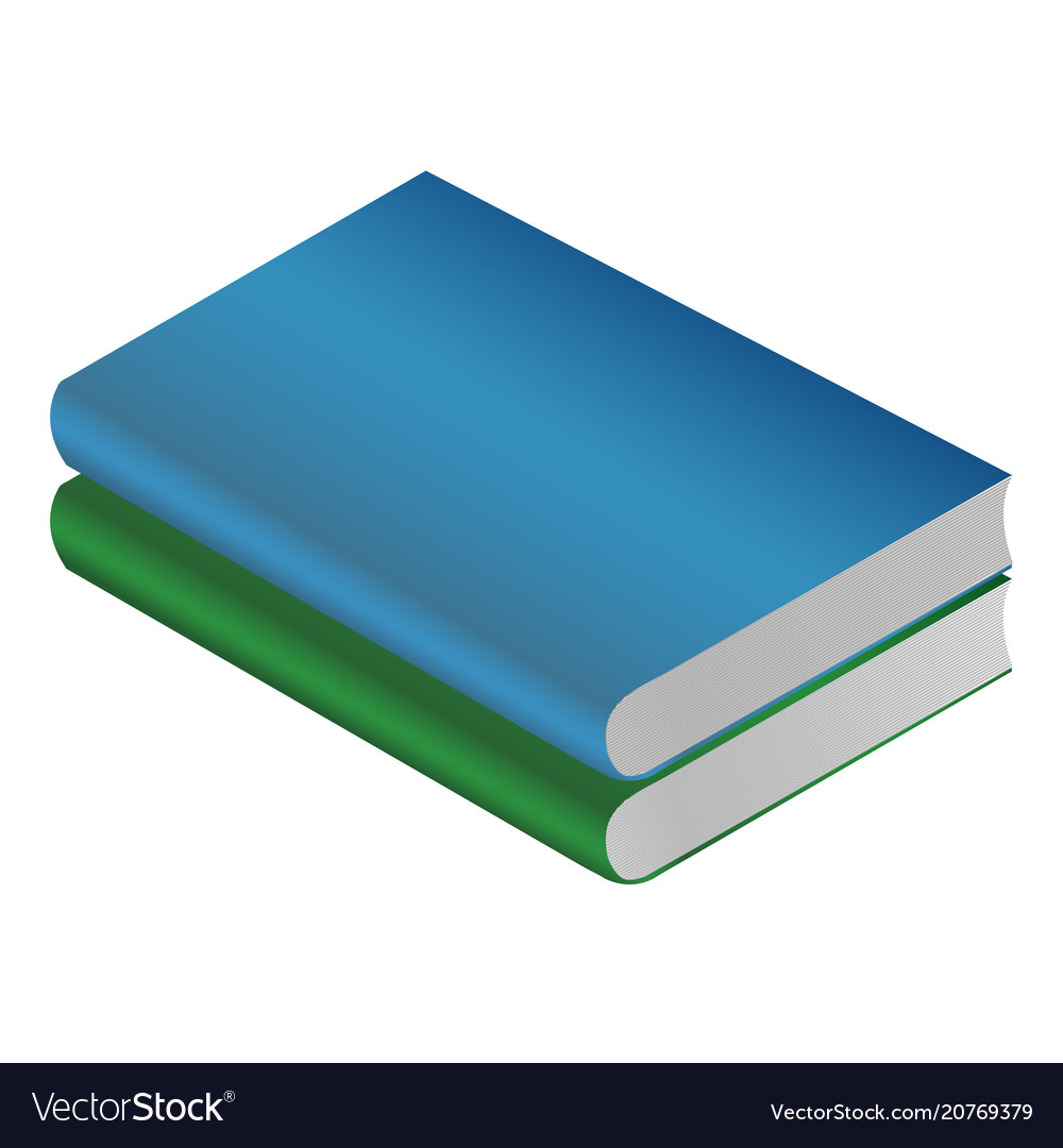 Book green isolated on white background