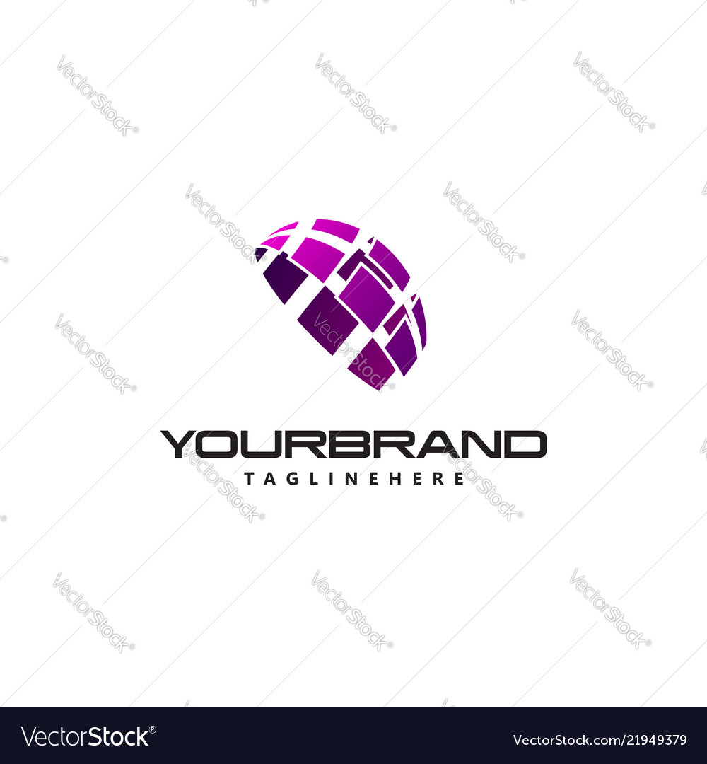 Business logo semicircle sign