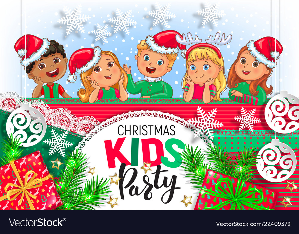 Christmas kids party design