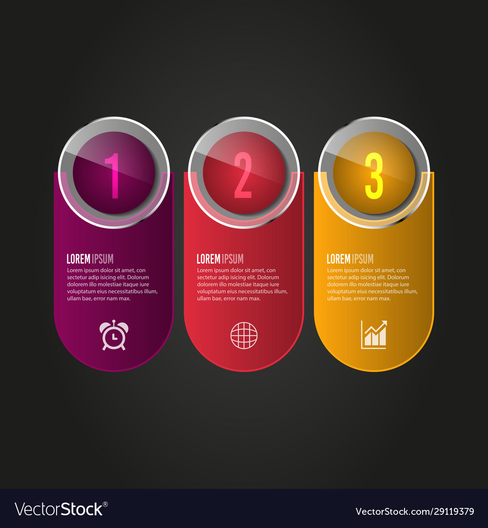 Digital business infographic design vector