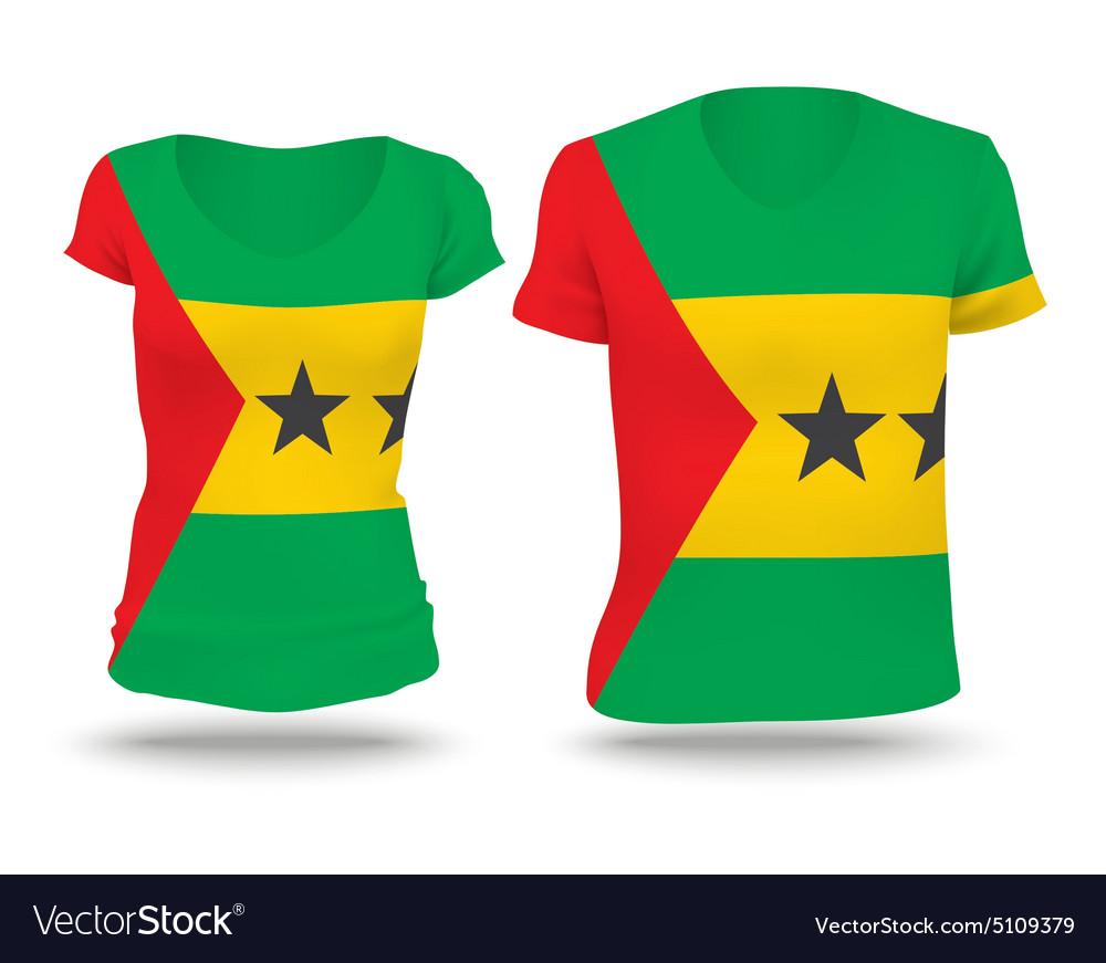 Flag shirt design of Sao Tome and Principe