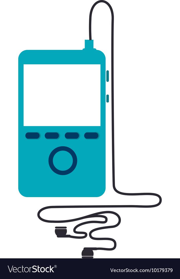 MP4 music player icon icon vector image