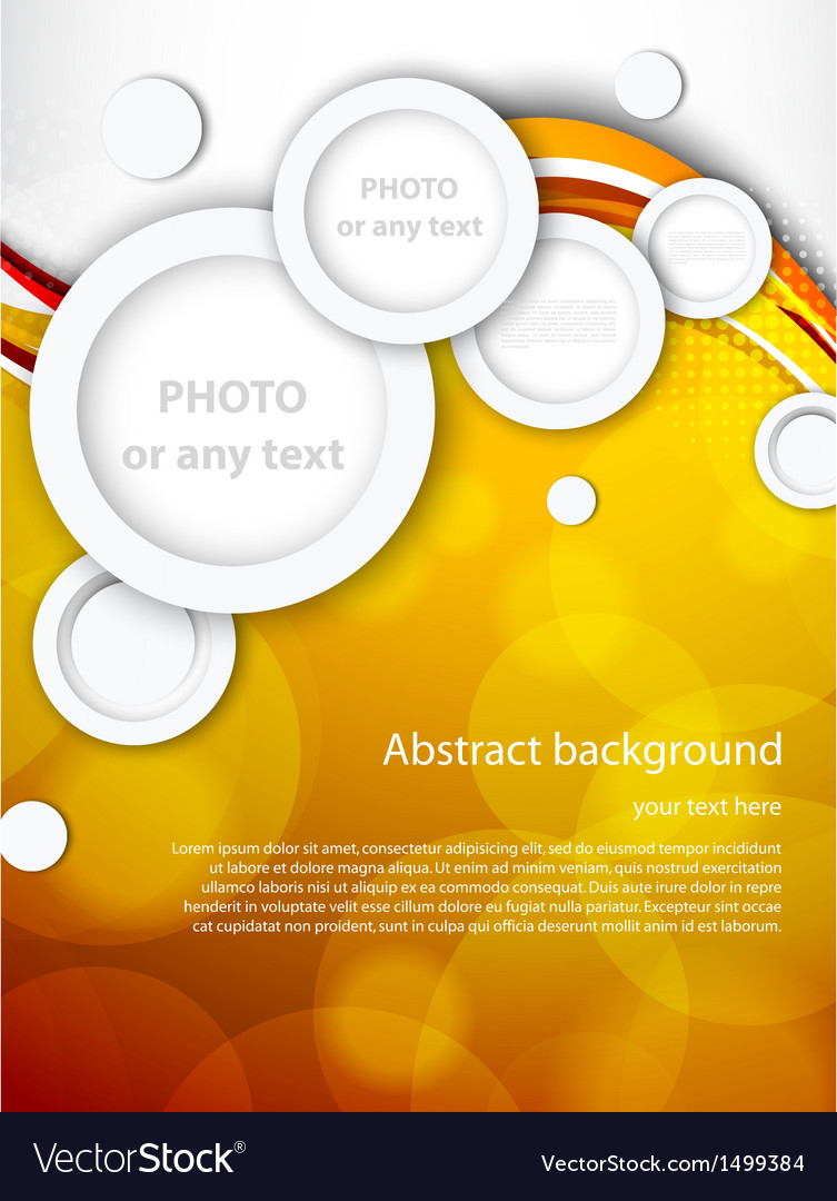 Abstract brochure with circles vector image