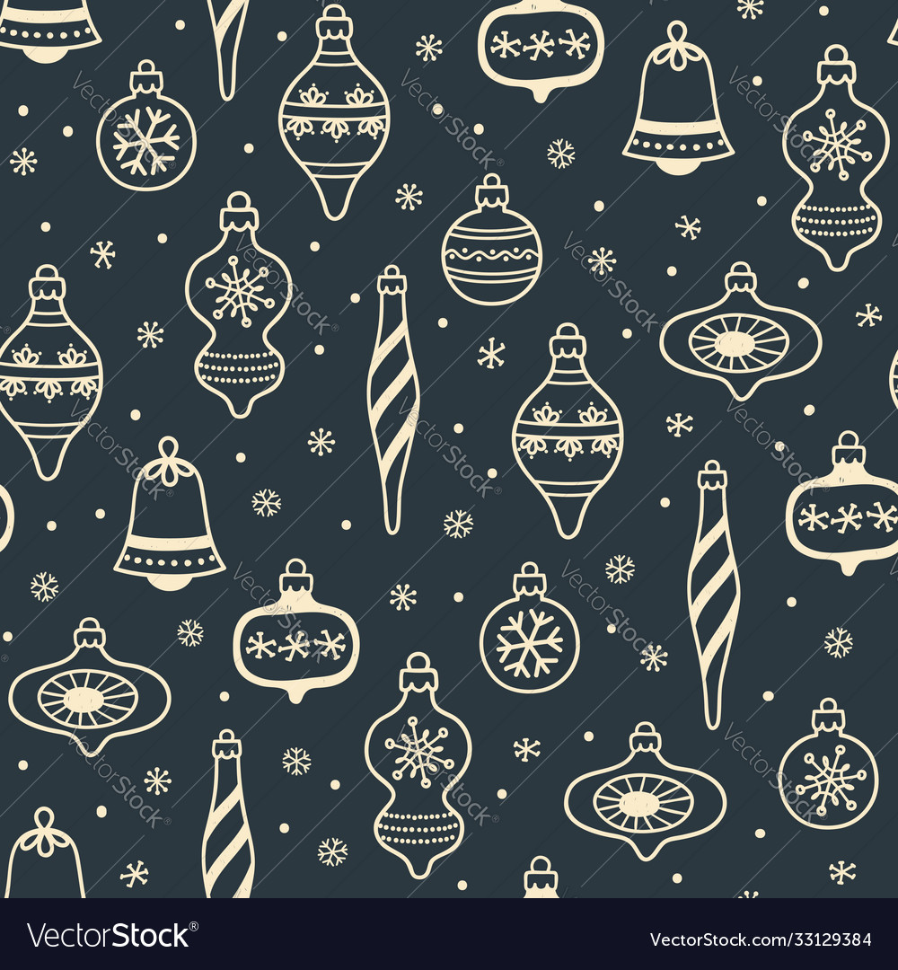Christmas decorations seamless background