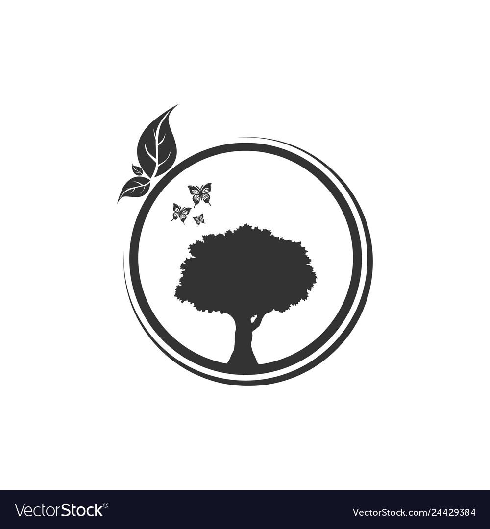 Circle tree logo design