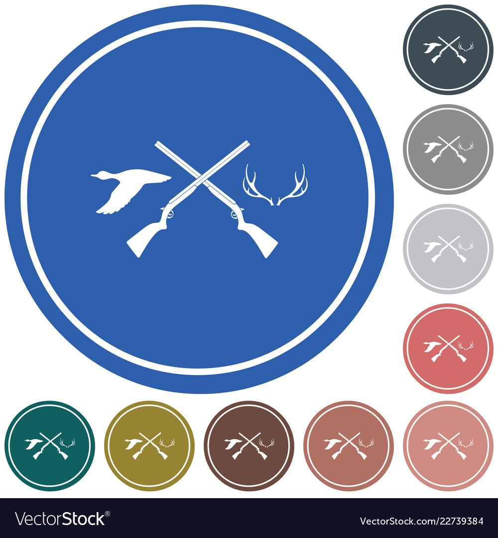 Hunting club logo icon