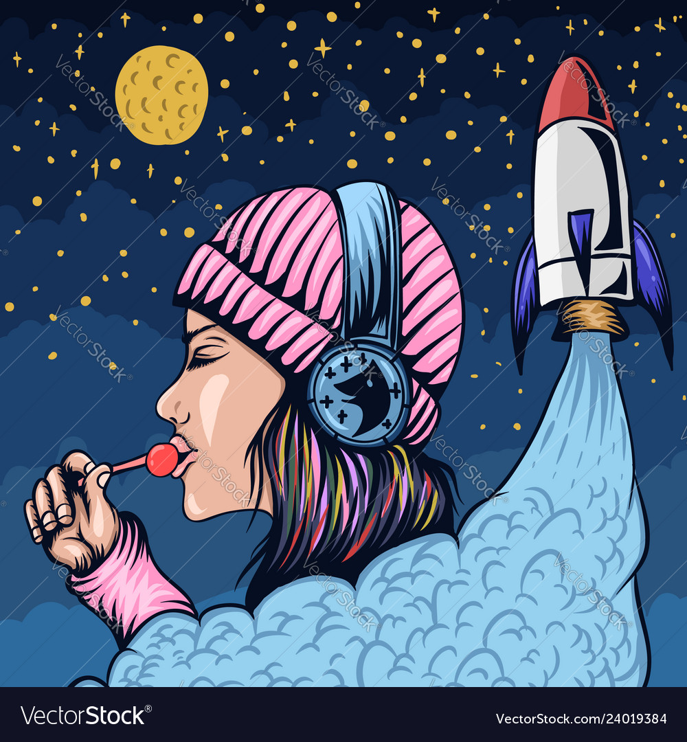 Lollipop woman rocket