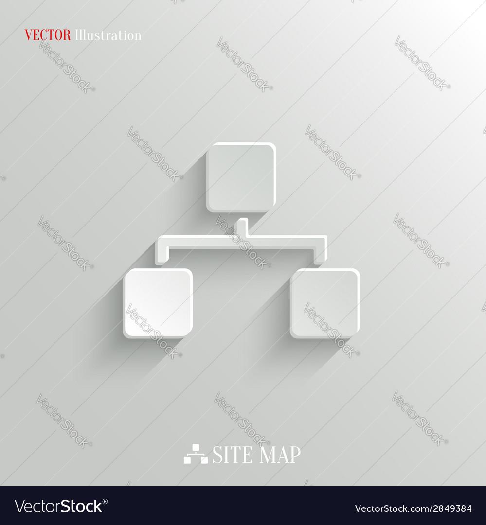 Network icon - white app button