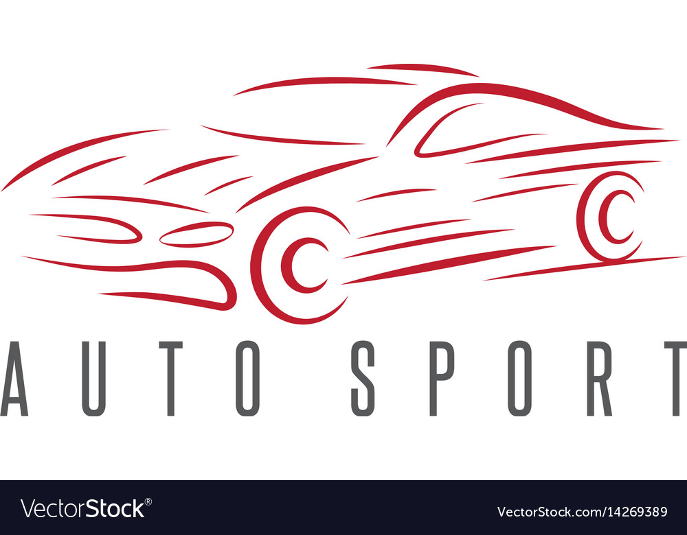Auto sport abstract car design template