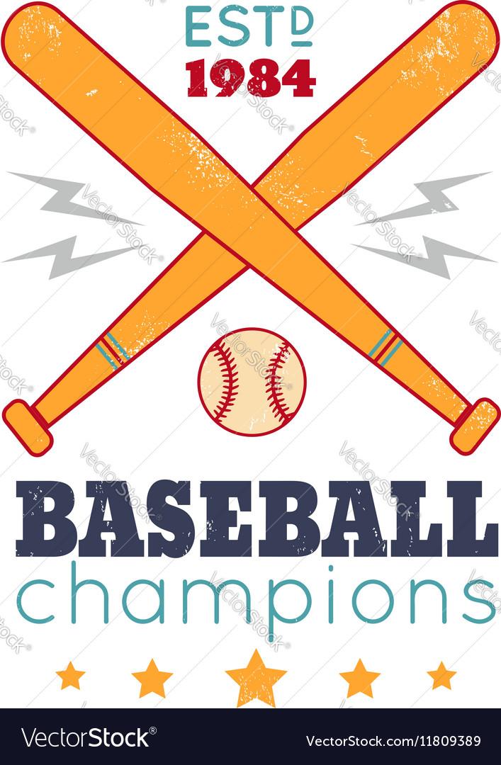 Baseball retro poster new color
