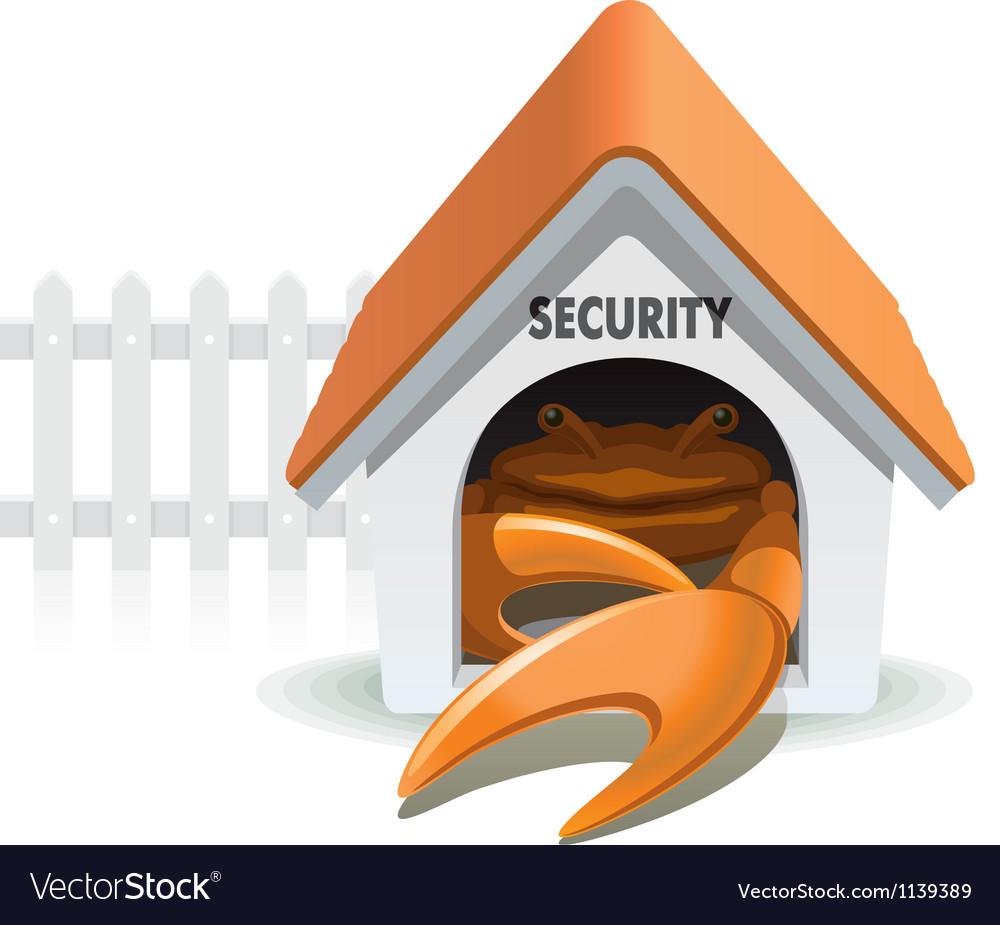 Crab security vector image