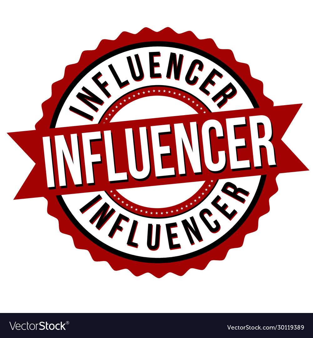 Influencer label or sticker