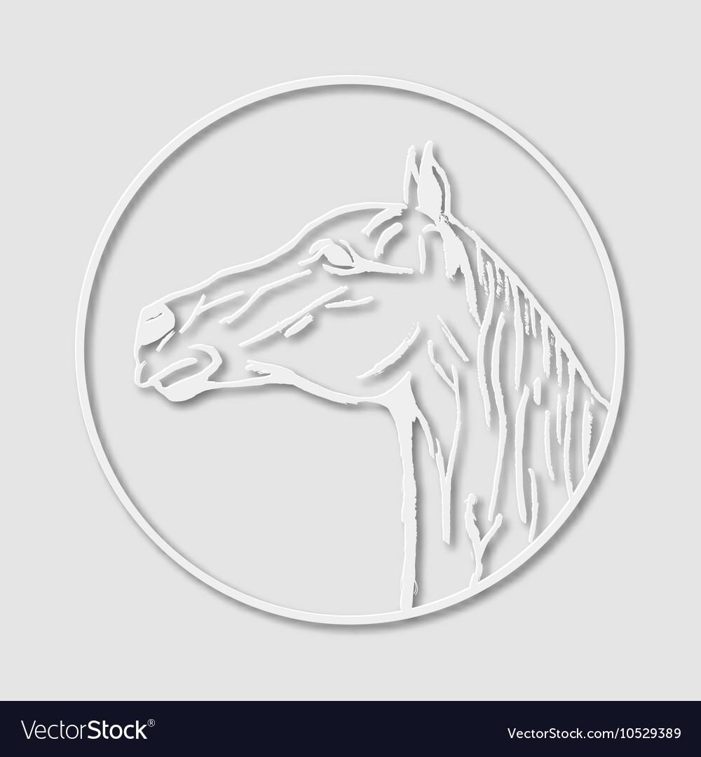 Papery Logo Emblem Template Mascot Symbol Of Horse