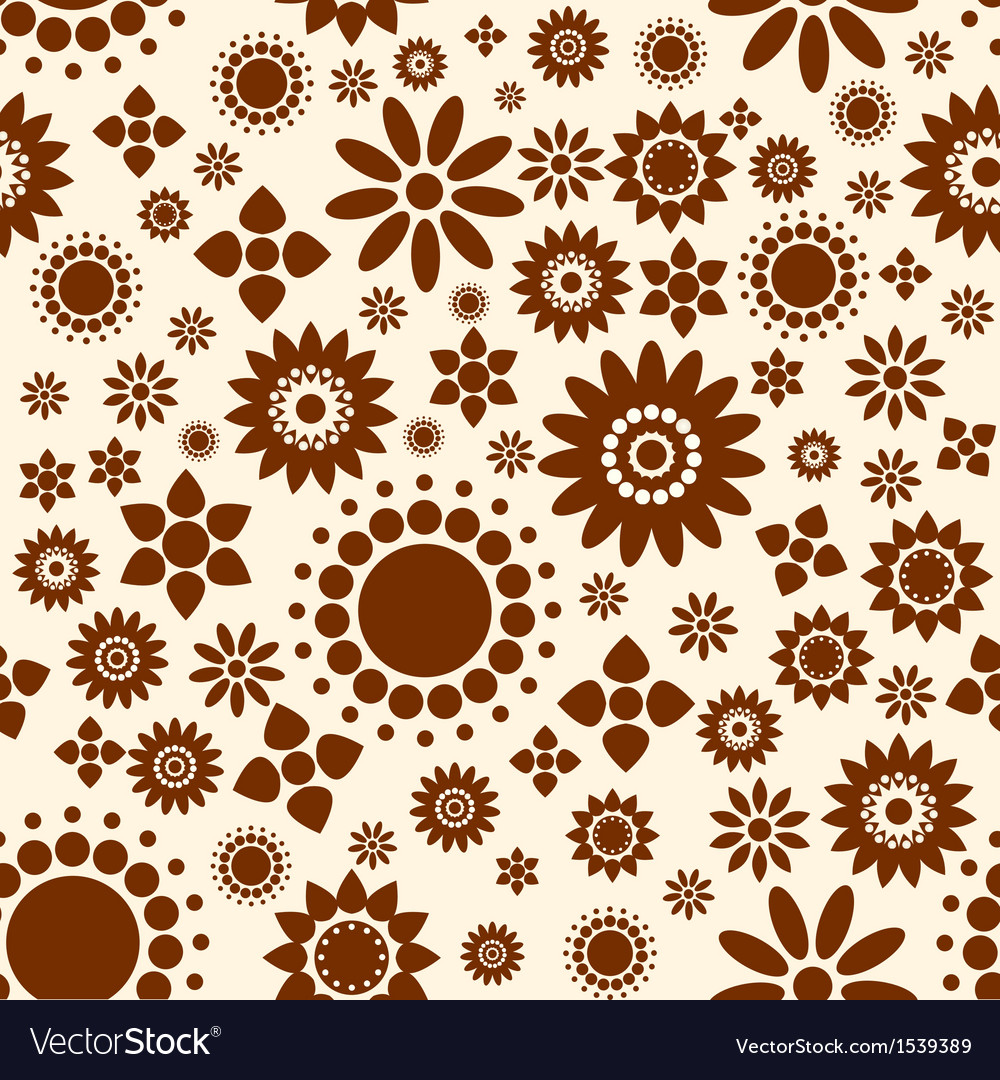 Seamless Decorative floral background