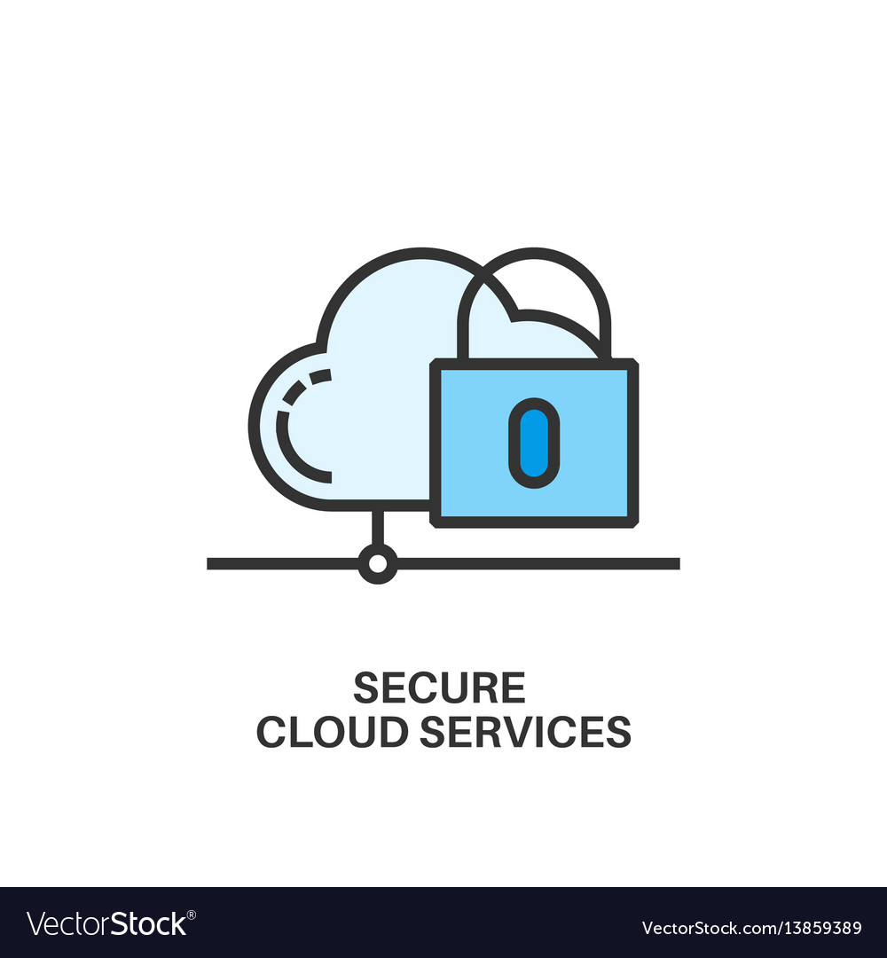 Secure cloud services icon