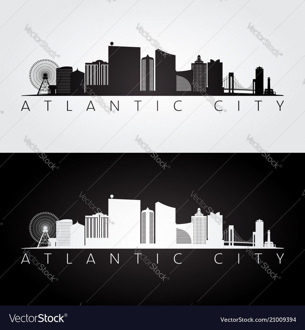 Atlantic city usa skyline and landmarks