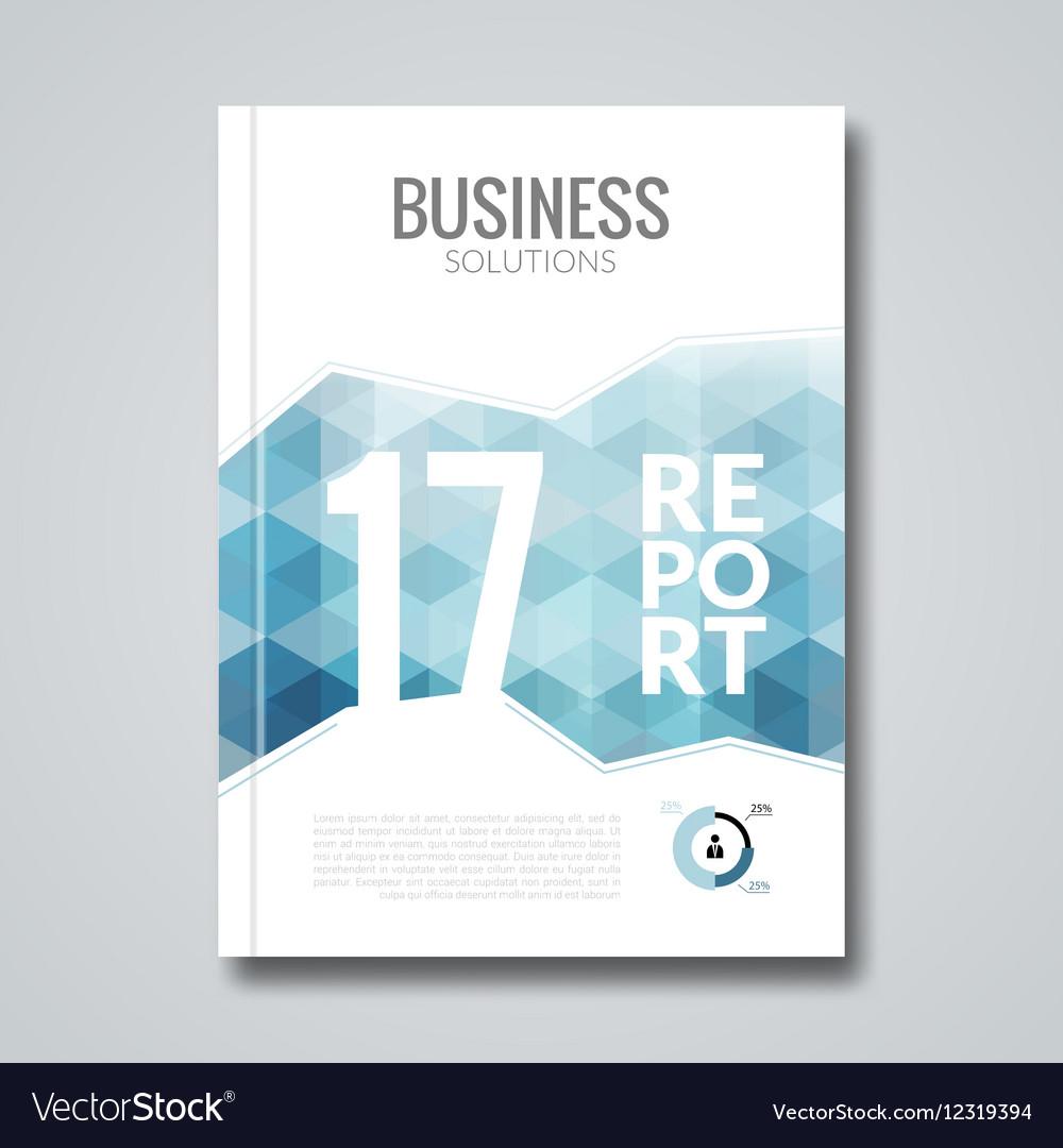 Cover design report template Hex graphic concept