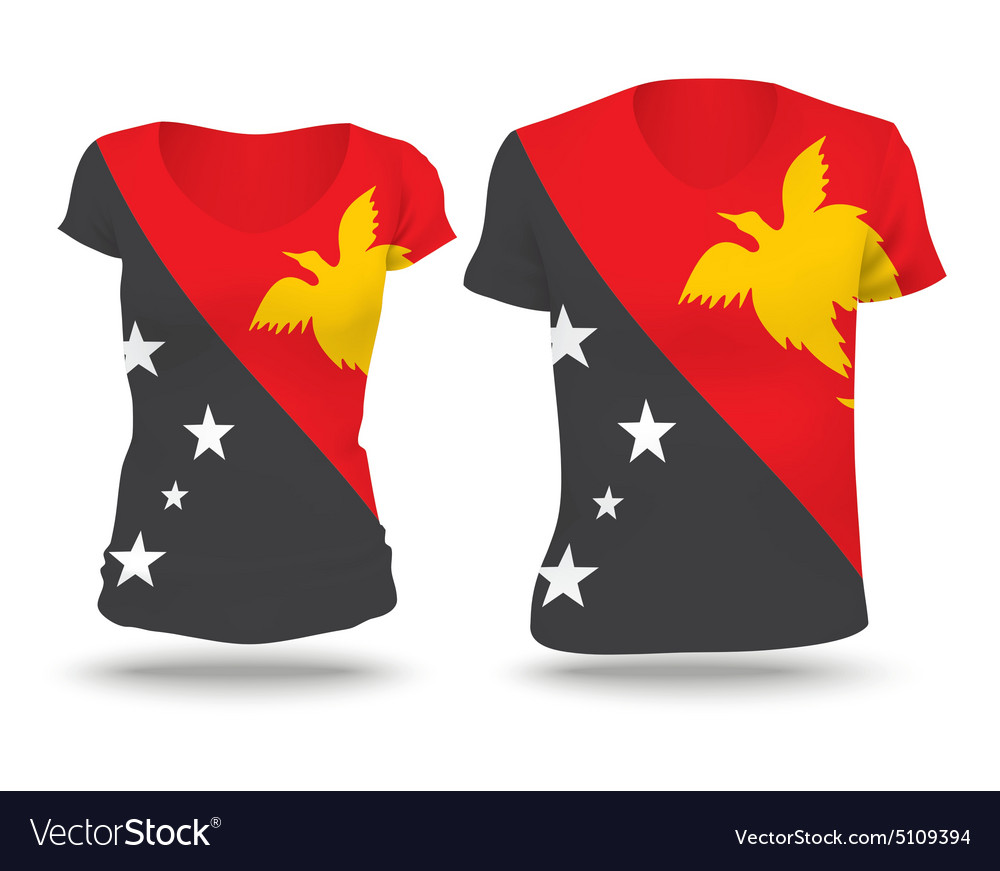 ac93cbc39 Flag shirt design of Papua New Guinea Royalty Free Vector