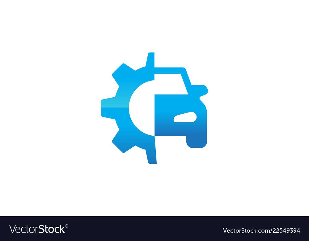 Gear and car repair logo designs inspiration