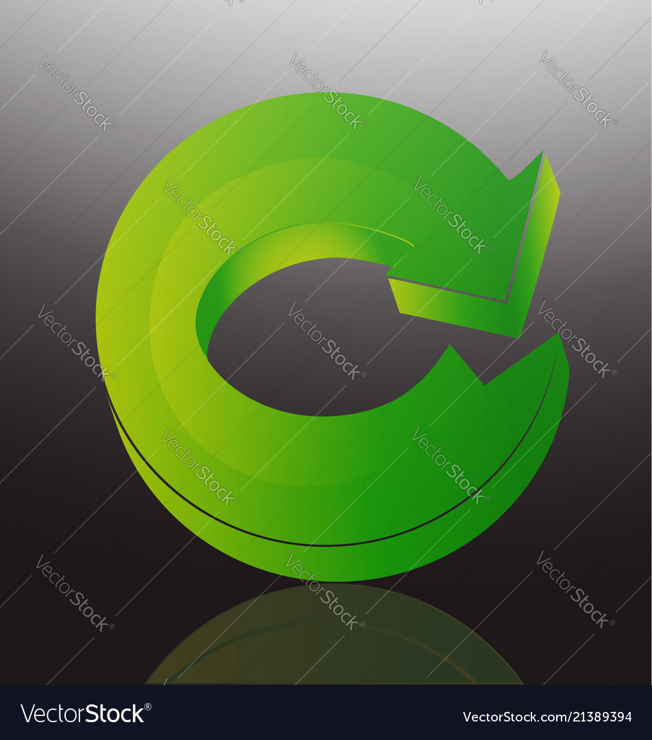 Green arrow recycle icon