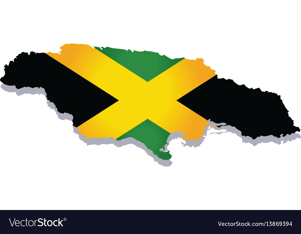 Jamaica flag amp map vector image