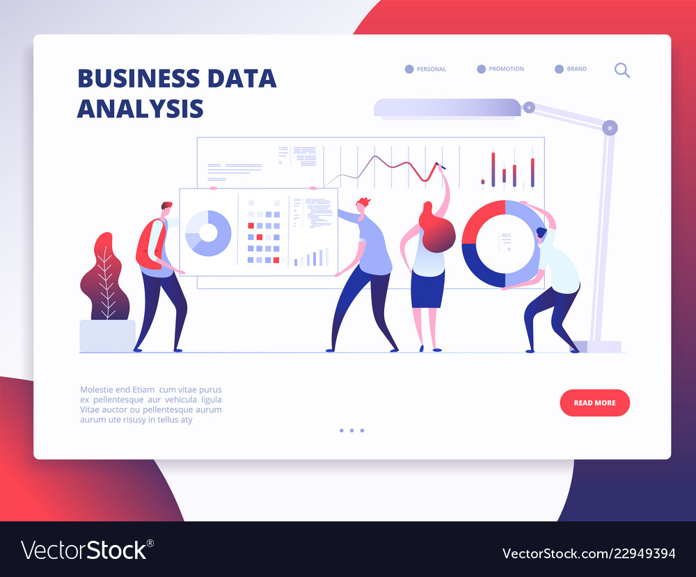 Landing page template digital marketing analyst