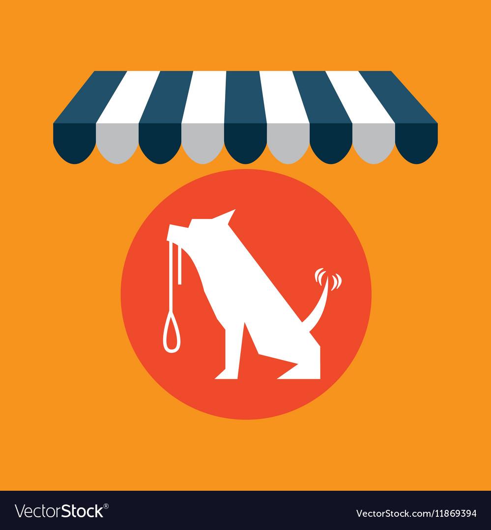 Pet shop with dog training