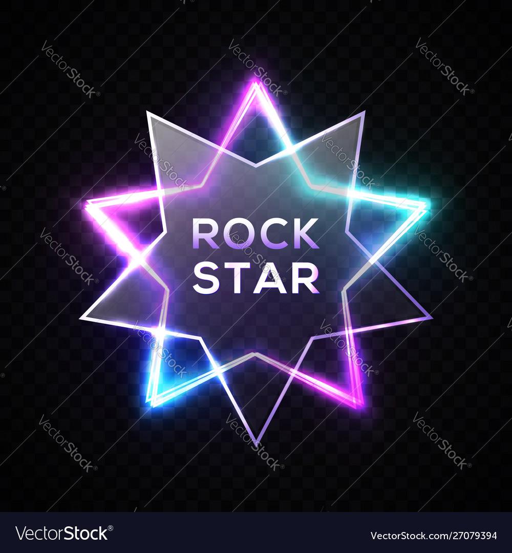 Rock star neon sign night rock music signboard