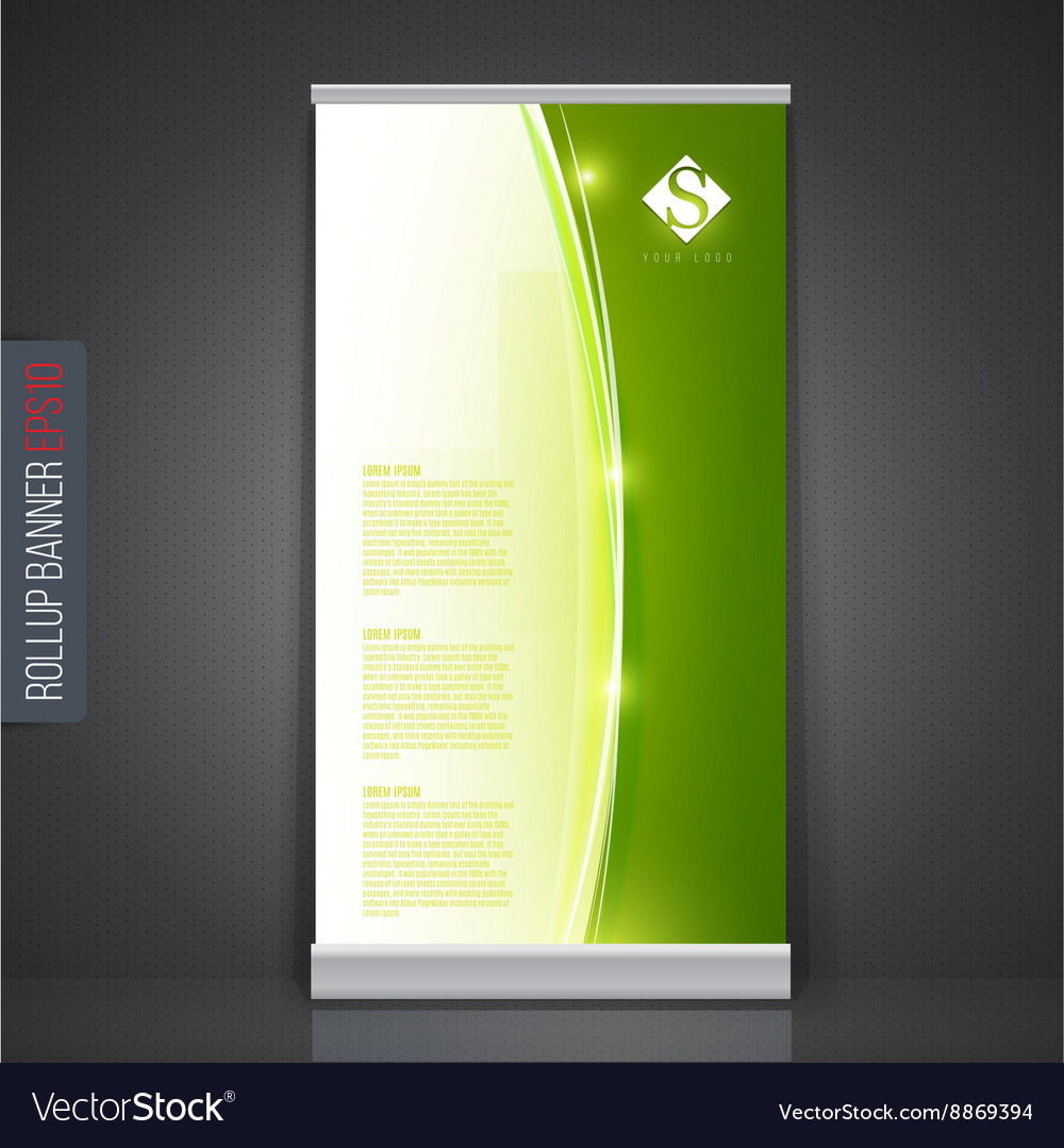 Roll up banner stand template abstract background