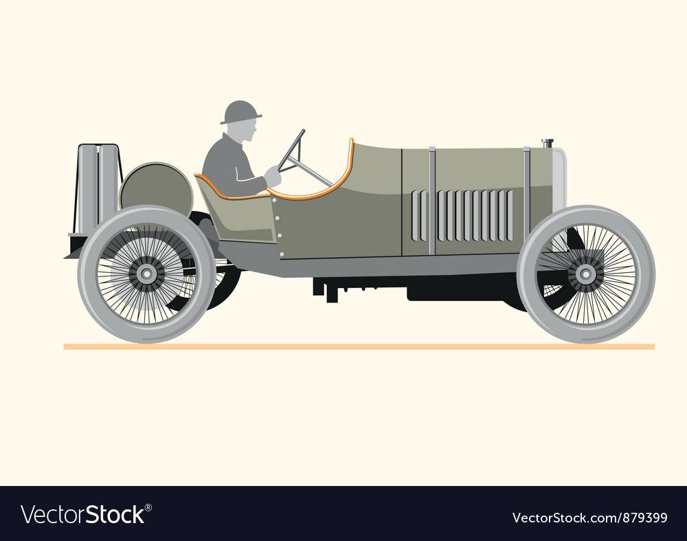 Cartoon old retro car