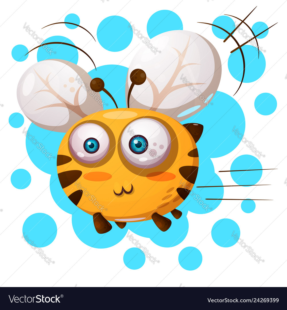 Cute bee characters cartoon