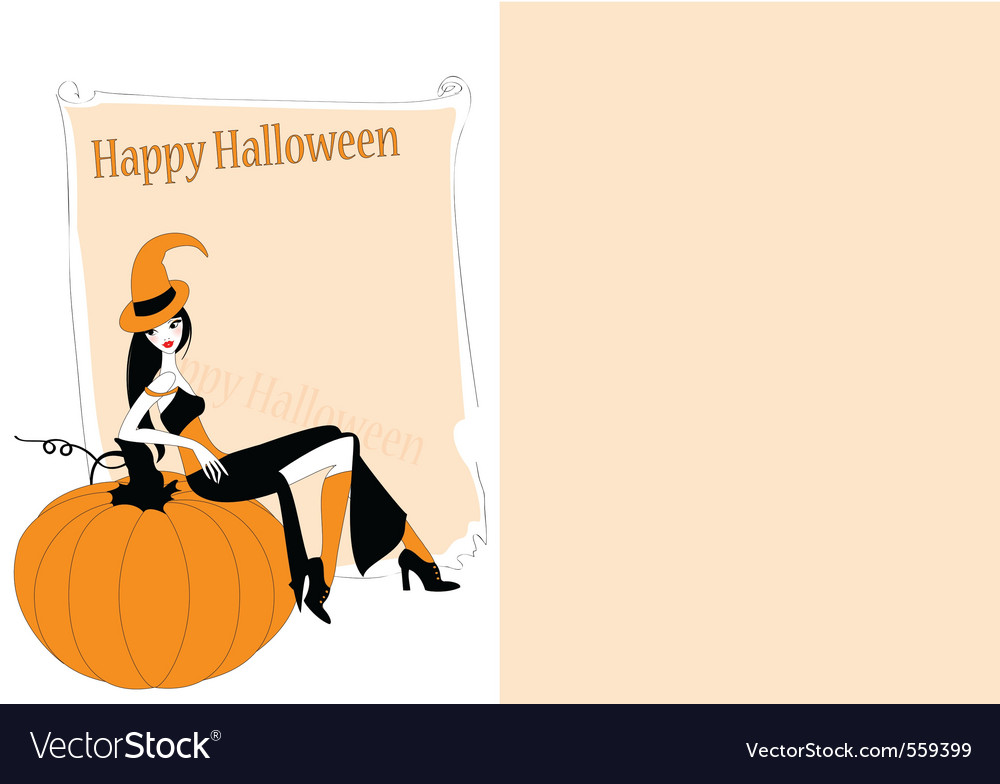 Invitation to halloween party vector