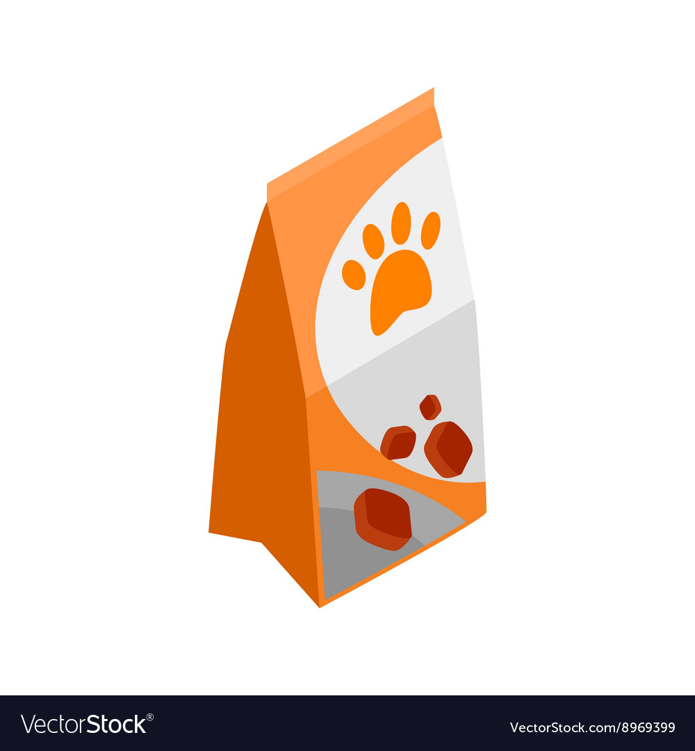 Packing of dog food icon isometric 3d style